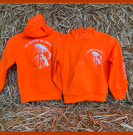 Sweat shirt enfants orange 2020